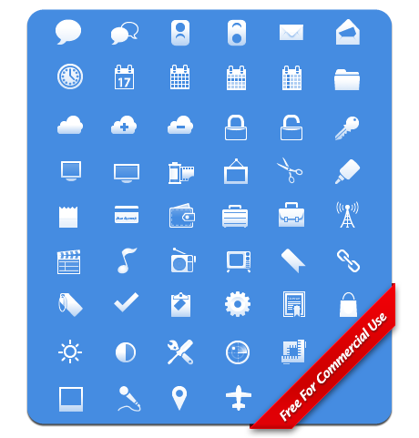 Free iPhone Toolbar Icons 30x30 Pixels