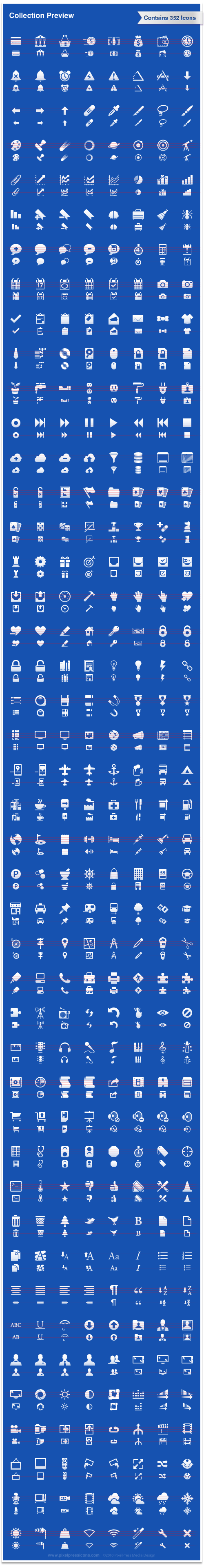 iPhone Icons, Tool Bar Icons, Tool Tab Icons, Glyphs, Pictograms, 30x30, 20x20, ATM Card, Add Chat, Add to Cloud, Airplane, Alarm, Anchor, Angle, Announcer Microphone, Aperture, Arrow Down, Arrow Left, Arrow Right, Arrow Up, Attach, Bank, Bar Graph 1, Bar Graph 2, Bar Graph 3, Basket, Beer, Black Moleskine, Bold, Bookmark, Bow Tie, Breifcase, Brightness, Broom, Calendar Day of Week, Calendar Day, Calendar Month, Calendar Week, Camera, Camping, Cardboard Box, Chat, Chats, Checkmark, Clipboard Alt 1, Clipboard Alt 2, Clipboard, Clock, Closed Combination Lock, Closed Mail, Cloud, Coffee, Compass, Compress, Contact, Contrast, Crop, Cue End, Cue Forward, Cue Pause, Cue Play, Cue Reverse, Cue Start, Cue Stop, Cut, DSLR Camera, Database, Desktop, Detour, Directions, Document Alt 1, Document, Documents, Download, Electrical, Equalizer, Fade In, Fade Out, Filing Cabinet, Film Camera, Film Roll, Filter, First Aid, Flag, Flip Horizontal, Flip Vertical, Folder, Font Decrease, Font Increase, Font, Food, For Sale, Fuel, Game Controls, Game Piece Knight, Game Piece Rook, Gear, Gift, Globe, Go Light, Golf, Grocery Bag, Guage, Guitar, Gym, Headphones, Heart, Home, Instruction, Italic, Key, Keyboard, Keypad, Level, Library, License, Light Off, Light On, Lightning Bolt, Line Graph 1, Line Graph 2, Line Graph 3, Line Graph 4, Link, List with Bullets, List with Numbers, List, Lock, Lodging, Loop, Magnet, Marker, Medal Coin, Medal Square, Medal Star, Megaphone, Microphone, Mix, Moleskine, Monitor, Movie, Music, Navigation Map, Needle, Newspaper, No Sound, Notes, Oil, Open Combination Lock, Open Mail, PC, Paint Roller, Pan, Paragraph Center, Paragraph Justify, Paragraph Left, Paragraph Right, Parked Car, Parking, Paste, Pencil, Phone, Piano Keys, Picture, Pie Graph, Pilcrow, Pills, Plant, Plumbing, Polaroid, Portfolio, Print, Puzzle Piece Alt 1, Puzzle Piece Alt 2, Puzzle Piece Alt 3, Quote, Radio Tower, Radio, Record, Refresh, Reload, Reminder, Remote, Remove Chat, Remove Red Eye, Remove from Cloud, Remove, Rotate Clockwise, Rotate Counter Clockwise, Ruler, Rx, Safe, Save Chat, Scale, Scanner, Settings, Ship's Wheel, Shopping Bag, Shopping Cart, Shopping Trolley, Shuffle, Shuttle, Slideshow, Sort Alphabetically, Sort Reverse Alphabetically, Sound Down, Sound Up, Sound, Speed, Spreadsheet, Star, Steering Wheel, Stop Light, Stop Sign, Stop Watch, Strikethrough, T-Shirt, TV, Tag, Target, Terminal, Thermometer, Thumb Tack, Thumbs Down, Thumbs Up, Tickets, Tie, Tools, Top Scores, Trailer Camping, Train, Trash Alt 1, Trash Alt 2, Treble Clef, Trophy, Umbrella, Underline, University, Unlocked, Upload to Cloud, Upload, User Picture, User With Bow Tie, User With Name Tag, User With Tie, User, Users, Video Camera, Video, Violin, Wallet, Weight, Widescreen, Wifi Off, Wifi On, Wizard, Wooden Crate, Wrench, X-Mark, Astronomy, Telescope, Points of Interest, Android, iPhone, Toolbar, GTD, Getting Things Done, Inbox, Outbox, Gambling, Poker, Dice, Playing, Cards, Chess, Pawn, Rook, Weather, Rain, Wind, Sun, Lasso, Brush, Paint Brush, Bandage, Photo Tools