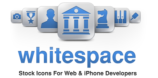 Whitespace Stock iPhone Tool Bar and Tab Bar Icons